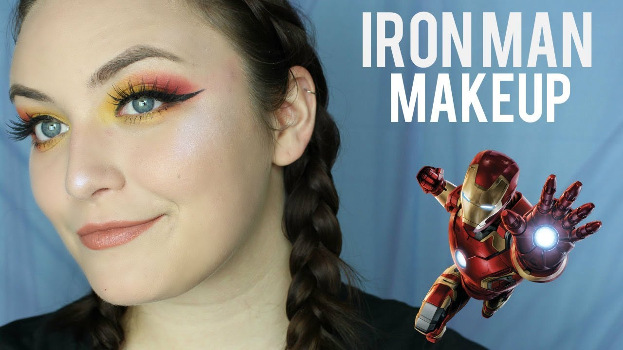 marvel series iron man inspired makeup tutorial youtube