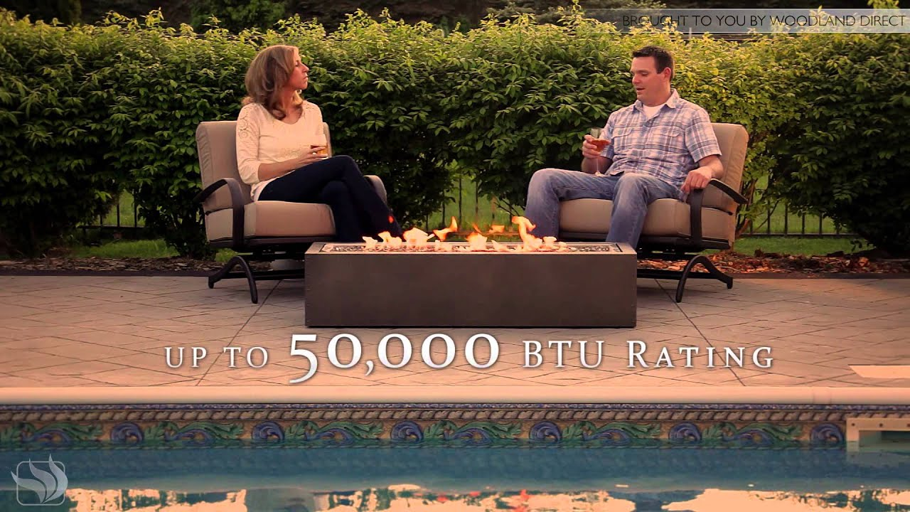 Napoleon Linear PatioFlame Outdoor Gas Fire Pit - YouTube