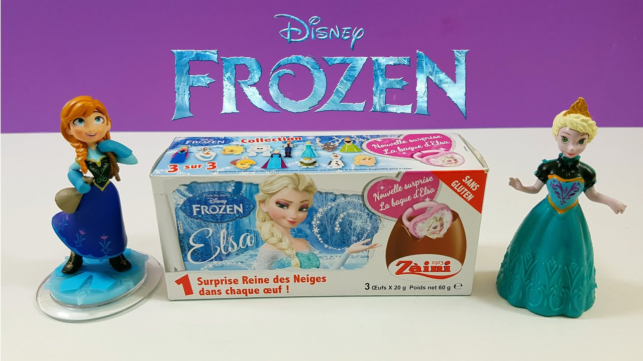 Disney Frozen Unwrapping Chocolate Surprise Eggs Toys For Girls