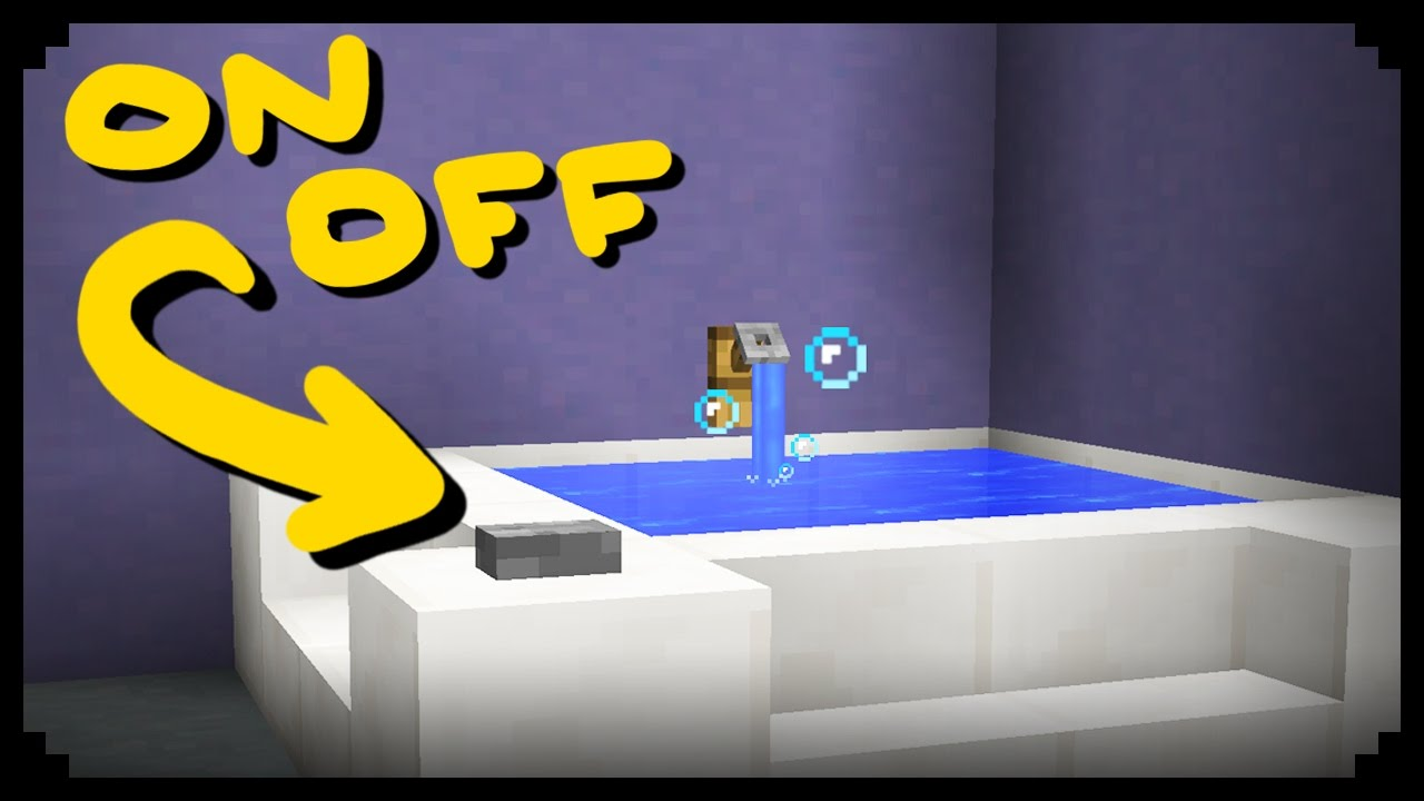 Minecraft: How to make a Working Bathtub | Doovi