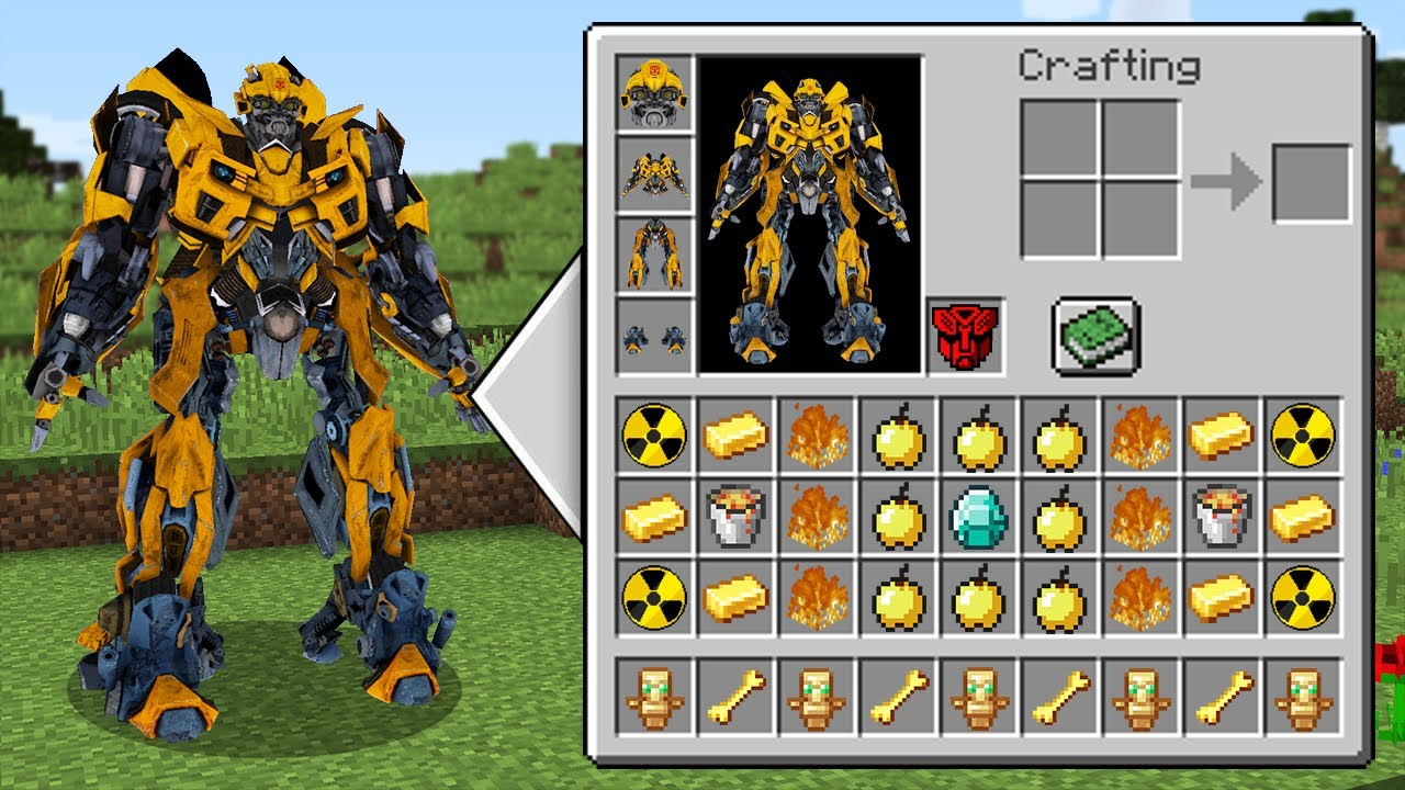 Download REALISTIC BUMBLEBEE Transformers Inventory Shop MINECRAFT REAL AUTOBOT INVENTORY CHALLENGE Animation