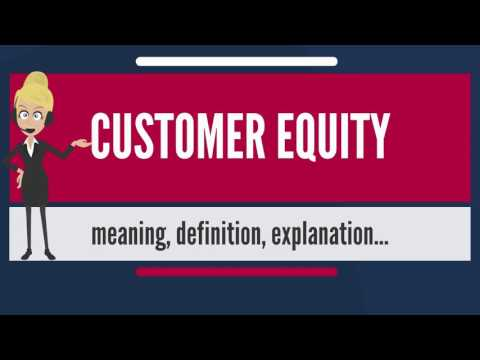 What is CUSTOMER EQUITY? What does CUSTOMER EQUITY mean? CUSTOMER EQUITY meaning & explanation