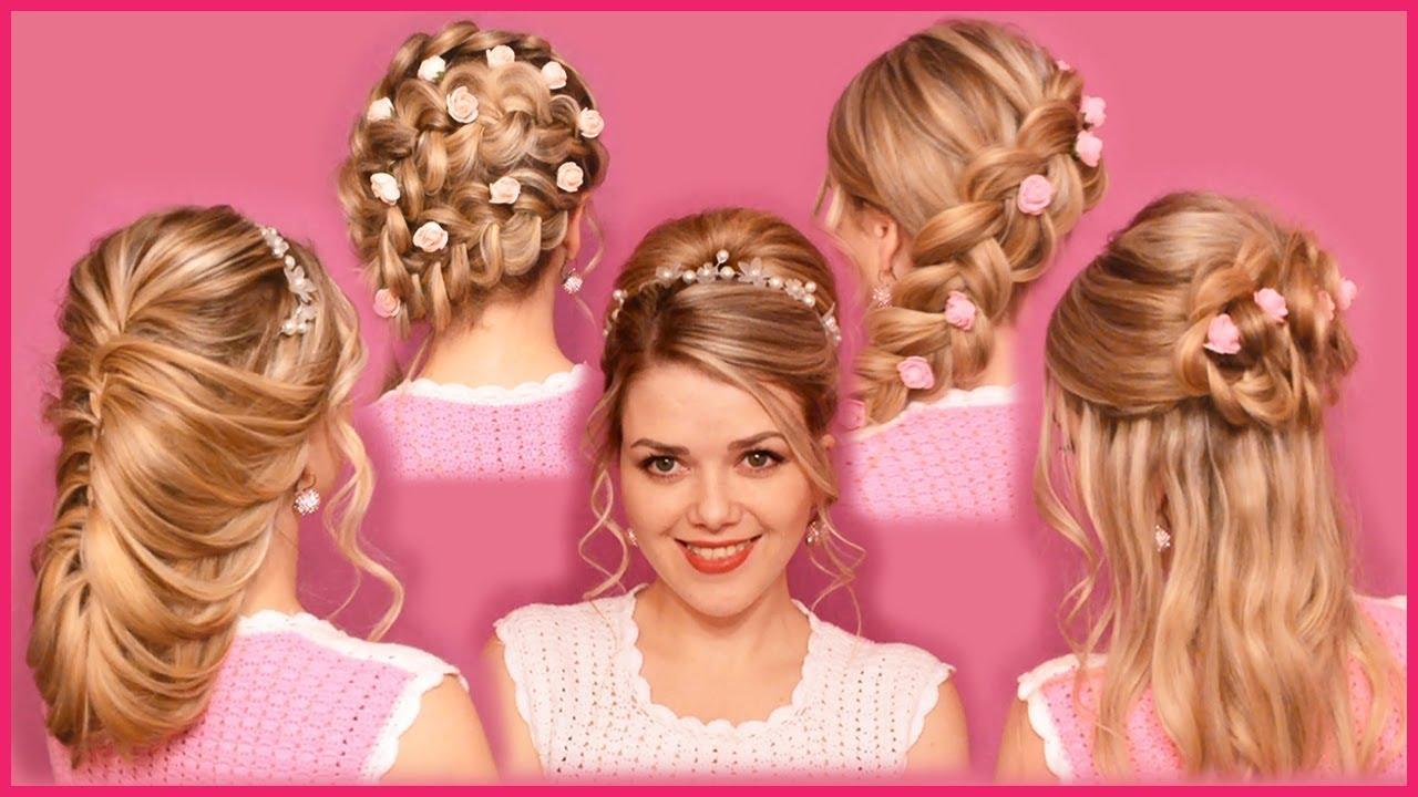 Простые свадебные прически - варианты для волос разной длины 67
