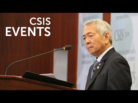 Philippines CSIS Forum with Foreign Secretary Perfecto Yasay, Jr.
