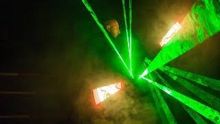 Pokaz laserów Krystiana Mindy