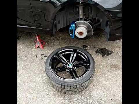BMW Brake Calipers Custom Painted Two Tone BMW M Series And Black - Bmw brake caliper decals