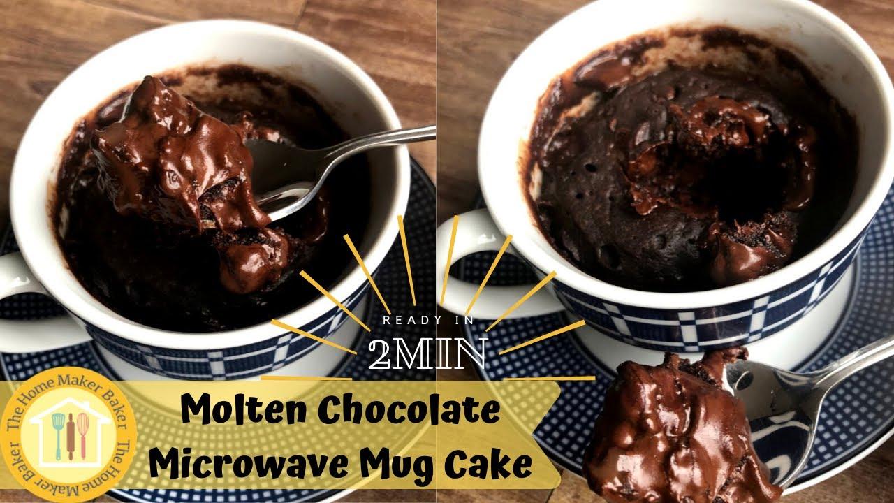 Molten Chocolate Mug Cake Recipe (No Egg) - The Home Maker ...