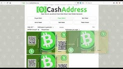 creating bitcoin cash paper wallet