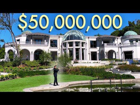 Touring $50 Million Dollar Los Angeles Mansion