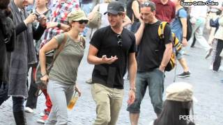Drew Barrymore and Will Kopelman Kiss on Rome Vacation