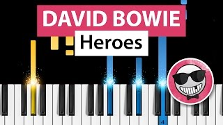 David Bowie - Heroes - Piano Tutorial - How to play