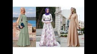 2018 Günlük Tesettür Elbise Modelleri
