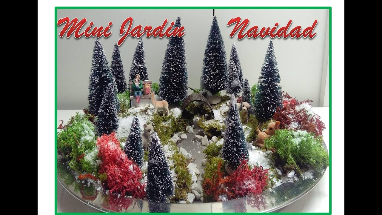 Diy ideas mini jardin navide o para decorar tu casa en for Ideas para decorar jardines