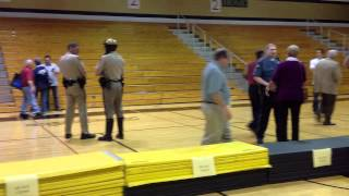 St. Charles MO Caucus Hijacked! Over 20 Police Officers inside the Gym.
