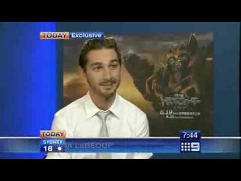 Shia LaBeouf interview with Today (Australia)