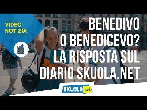 Si dice benedivo o benedicevo? Il 90% lo sbaglia... La risposta sul diario Skuola.net