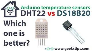 Arduino temperature sensor – DHT22 Temperature and humidity vs. DS18B20 Temperature 1-Wire