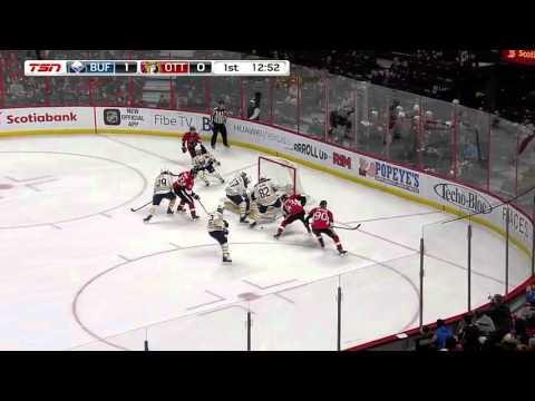 Dzingel First NHL GOAL Buffalo Sabres at Ottawa Senators   February 16th 2016