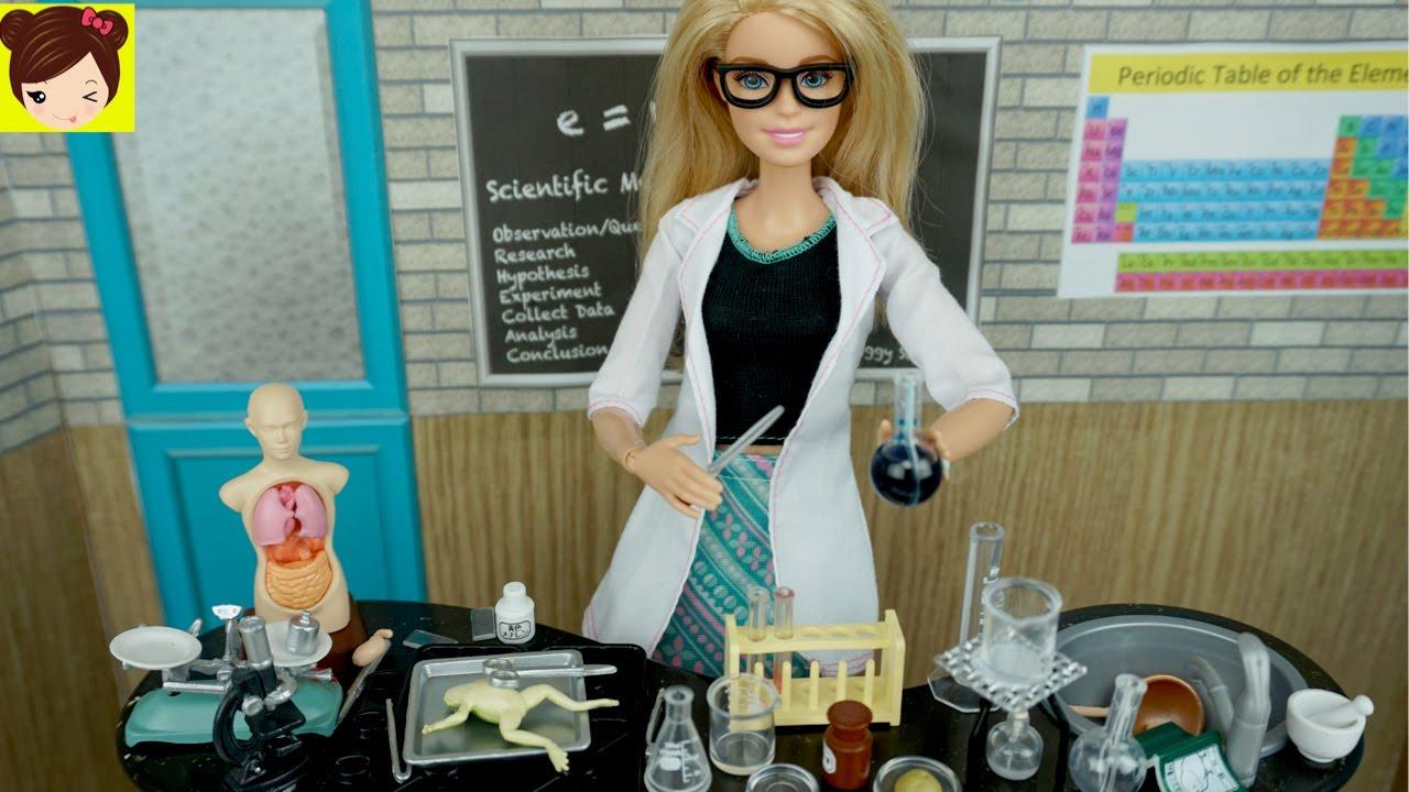 Muñecas Ciencia Rement Laboratorio De Clase Juguetes Accesorios Y Barbie Japoneses Para vbyYg6f7