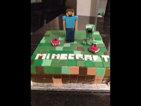 Minecraft cake torta minecraft steve creeper and tnt - Minecraft creeper and steve ...