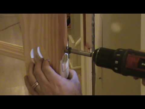How To Cut A Door Knob Hole In A Slab Door