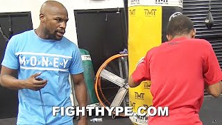 FLOYD MAYWEATHER GRUELING DOGHOUSE CIRCUIT TRAINING; PUSHING FIGHTERS TO LIMIT LIKE A DRILL SERGEANT