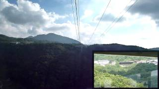 【前面展望】志賀高原ロープウェイ【復路・往路2画面】
