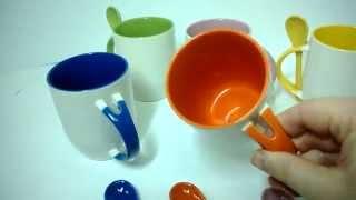 Печать на цветных чашках. Чашка+ложка. Харьков(Чашка + ложка с Вашим изображением для подарка любимому другу, подруге, сотруднику. Заказать такую керамиче..., 2013-12-23T15:49:35.000Z)