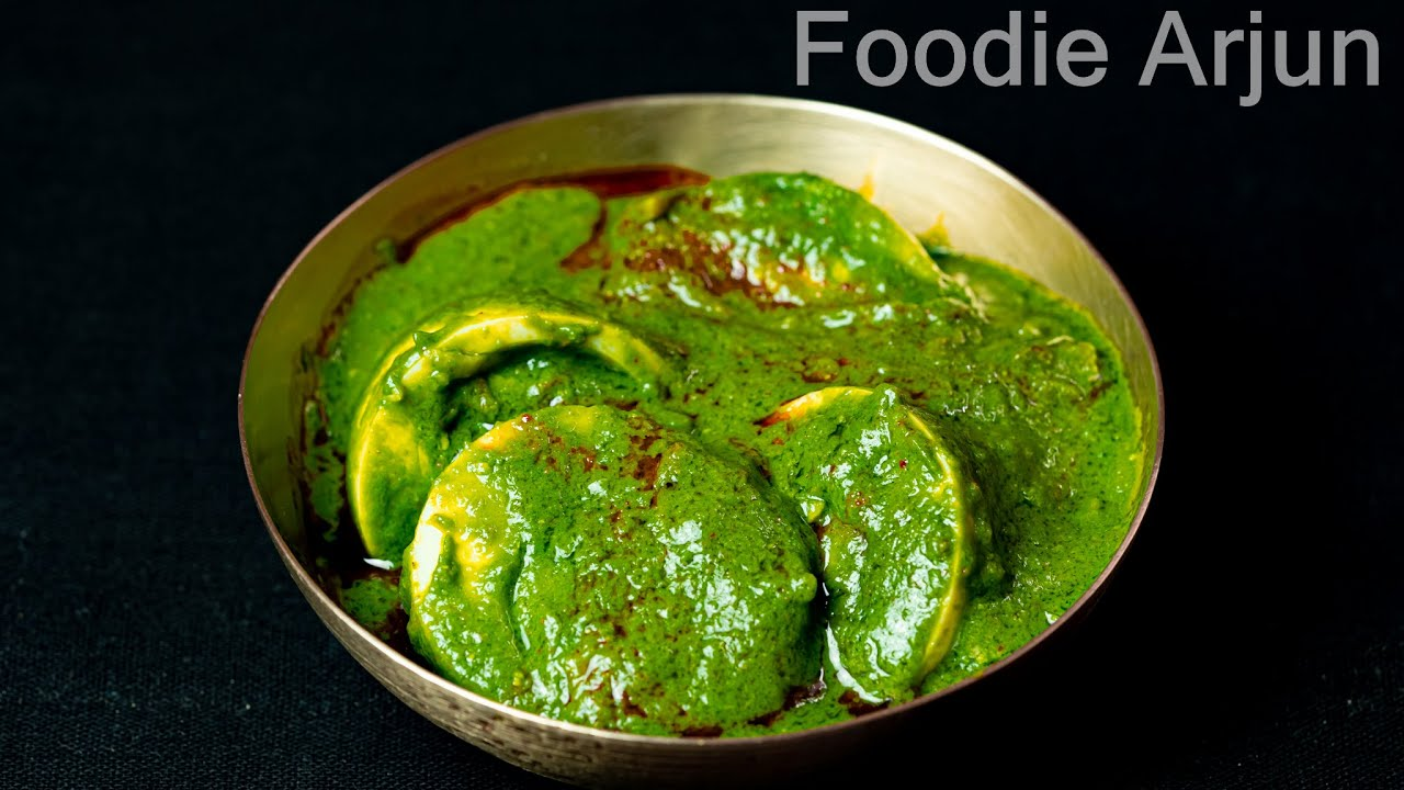 Best Side Dish For Chapati..! ||||| Best Side Dish For Chapati -Spinach Egg Curry ...!!!!