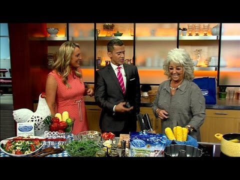 Celebrity Chef Paula Dean Cooks Chicken And Arugula Salad