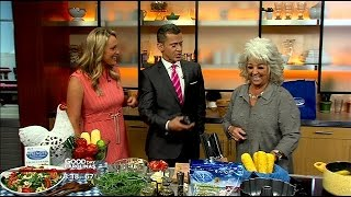Celebrity Chef Paula Dean Cooks Chicken And Arugula Salad