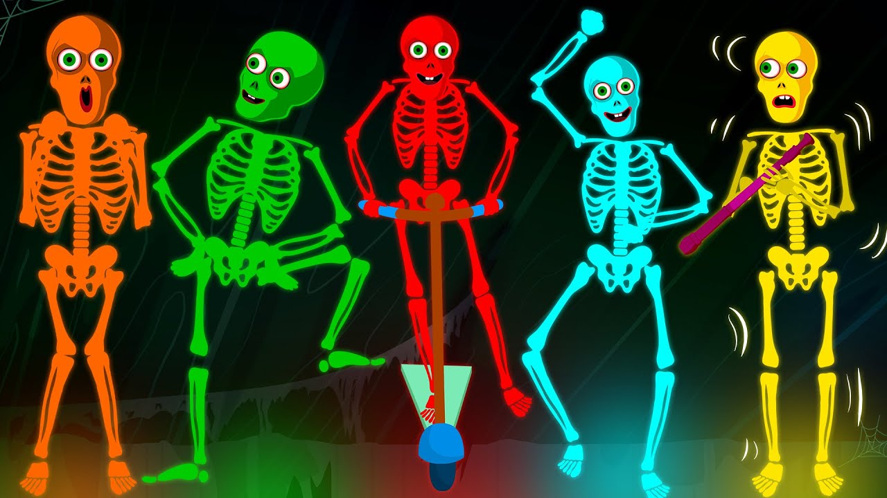 Ten Crazy Loony Skeletons Went Out Dancing At Midnight - Funny Skeleton  Dance Songs