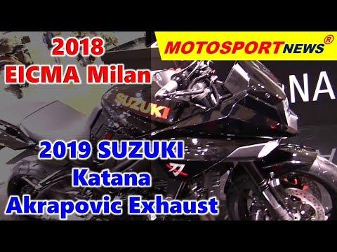 Suzuki Katana Akrapovic Exhaust  ǀ  EICMA Milan