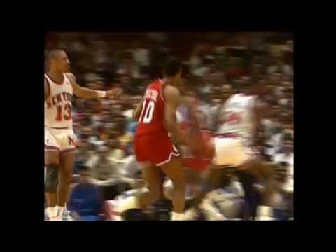 Ron Anderson vs. Knicks in 1989 Playoffs Highlights