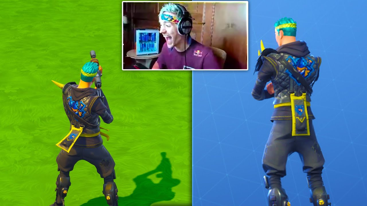 Surprising Ninja With A Custom Ninja Skin In Fortnite Battle Royale