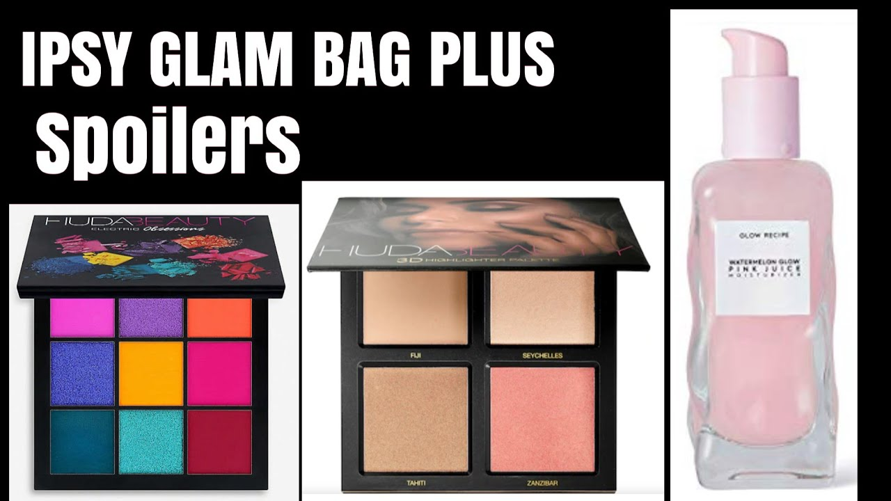 IPSY GLAM BAG PLUS JULY 2019 SPOILERS - Huda Beauty Obsessions palettes  Highlighter palettes