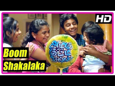 Azhagu Kutti Chellam Movie | Scenes | Boom Shakalaka Song | Karunas wants baby boy | Yazhini