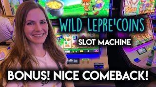 WILD Lepre'coins! Slot Machine!! BONUS! Nice Comeback!!