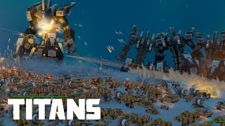 Planetary Annihilation - 70 Titans vs 7 000 Land Units | MASSIVE BATTLES