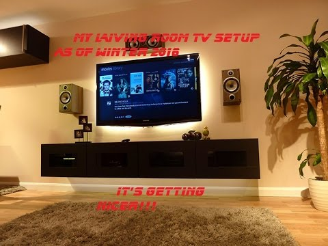 The multi media tv setup in the living room youtube for Best living room setup