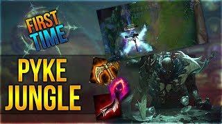 First Time Pyke Jungle! PBE Gameplay [League of Legends] [Deutsch / German]