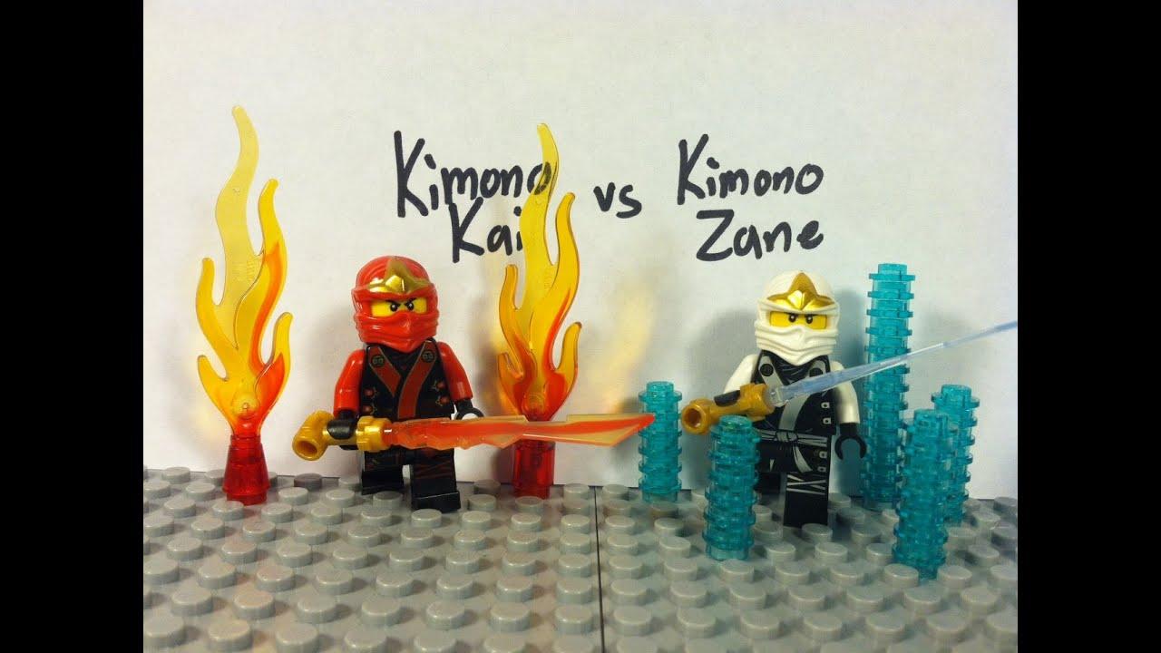 Lego Ninjago Kimono Kai Vs Kimono Zane Youtube