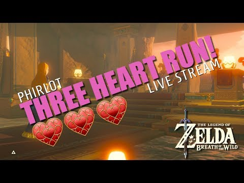 WE HIT 1000 SUBS! THREE HEART RUN - THE LEGEND OF ZELDA BREATH OF THE WILD