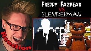 Freddy Fazbear vs. Slenderman (60fps) - Video Game Rap Battle REACTION! | BRING IT ON!!! |