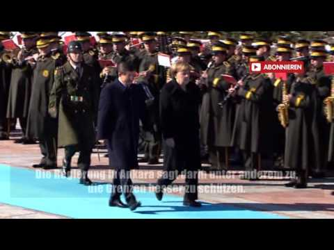 Merkel mit militärischen Ehren in Ankara empfangen