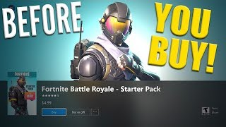 Fortnite Battle Royale - Starter Pack ( Agent de voyous (fr) Catalyst Back Bling - Avant d'acheter