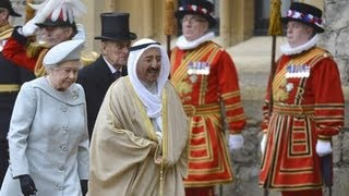 Pomp and ceremony for Amir of Kuwait