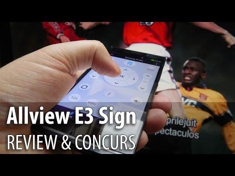 Allview E3 Sign Review & Concurs (Telefon cu scanner amprente și funcții de telecomandă)