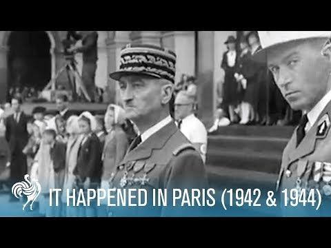 It Happened In Paris: WWII Nazi Occupation (1942 & 1944) | British Pathé