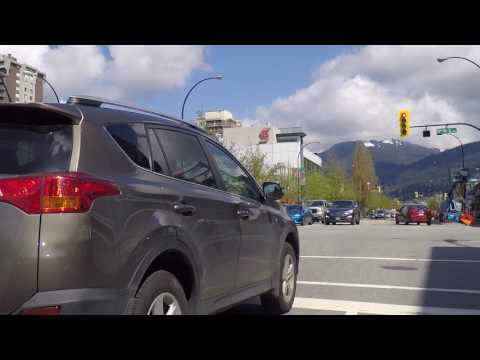 Driving in North Vancouver BC Canada - Hills, Slopes & Nature - Suburb Sightseeing Drive